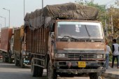 Drop in number of trucks entering Delhi after green tax imposition?