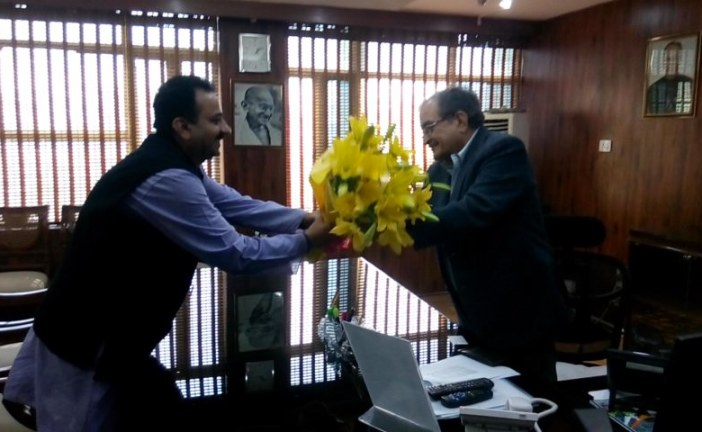 In meeting with Honble Minister Sh. Chaudhary Birender Singh and also congratulating him for swachh bharat mission