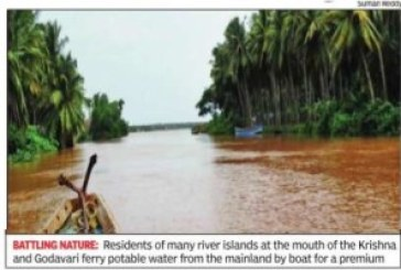 Saline groundwater leaves villagers thirsting on river islands